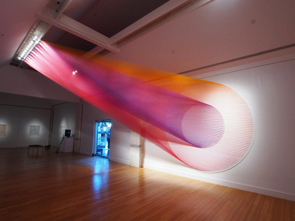 Rainbow Themed Thread Installations By Gabriel Dawe 5
