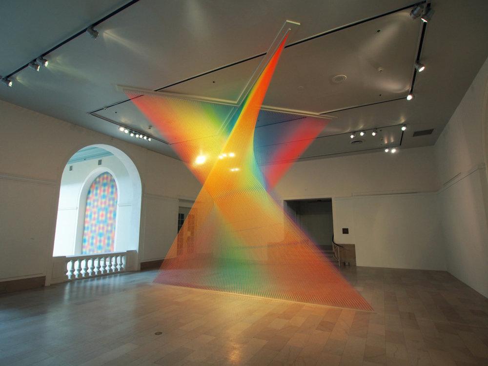 Rainbow Themed Thread Installations By Gabriel Dawe 6