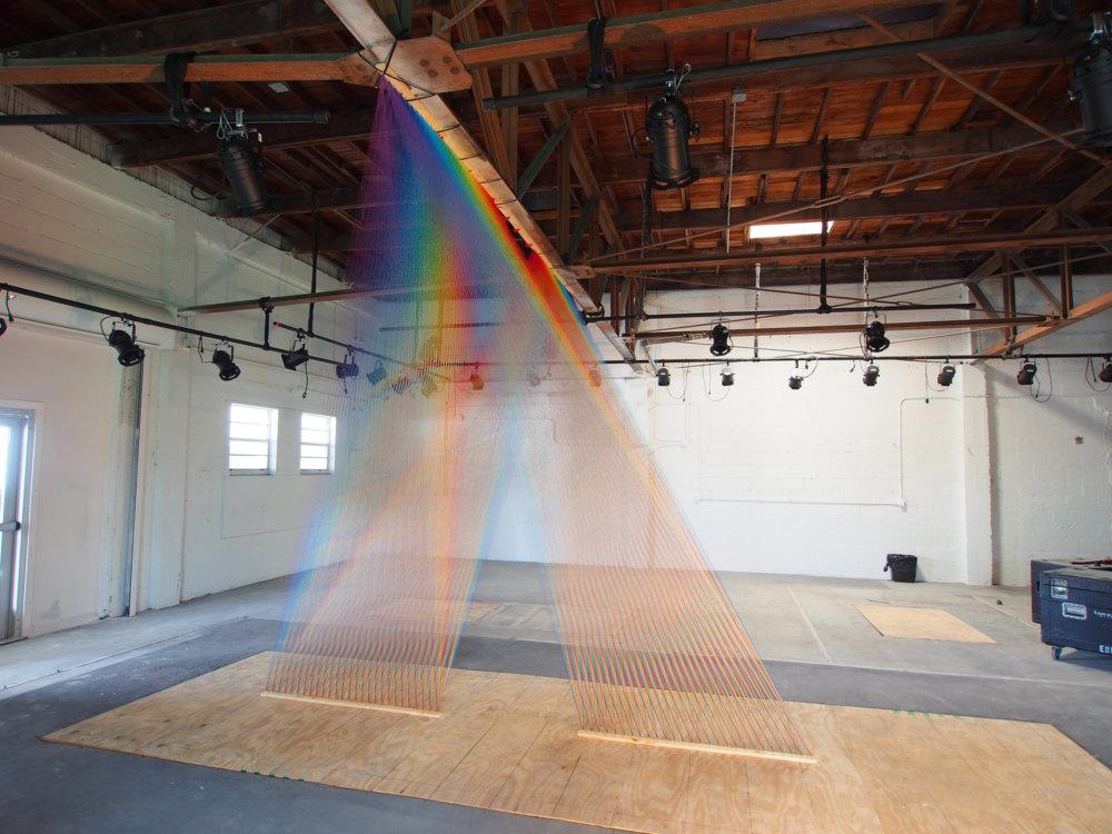 Rainbow Themed Thread Installations By Gabriel Dawe 7