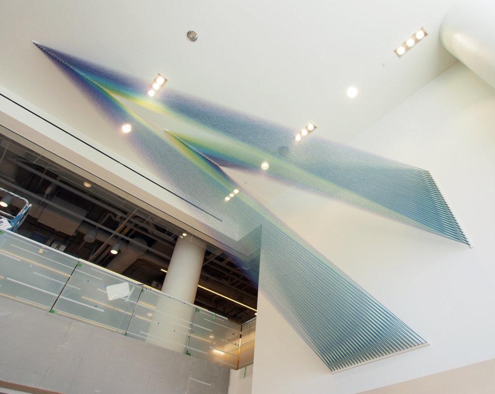 Rainbow Themed Thread Installations By Gabriel Dawe 8