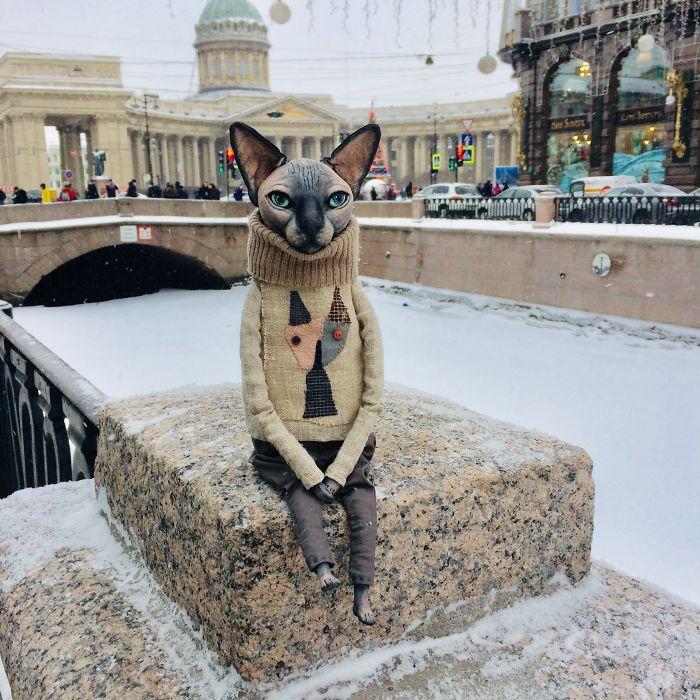 Realistic Dolls Of Sphynx Cats By Elena Alekhina 3