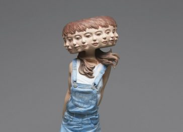 Surreal figurative wood sculptures by Yoshitoshi Kanemaki