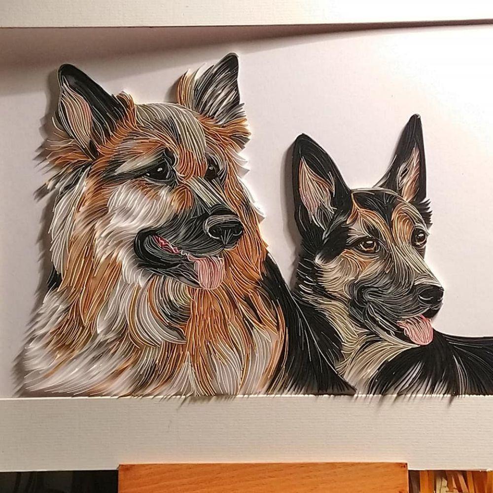 Wonderful Animal Paper Quilling Illustrations By Rebekah Jenkins 10