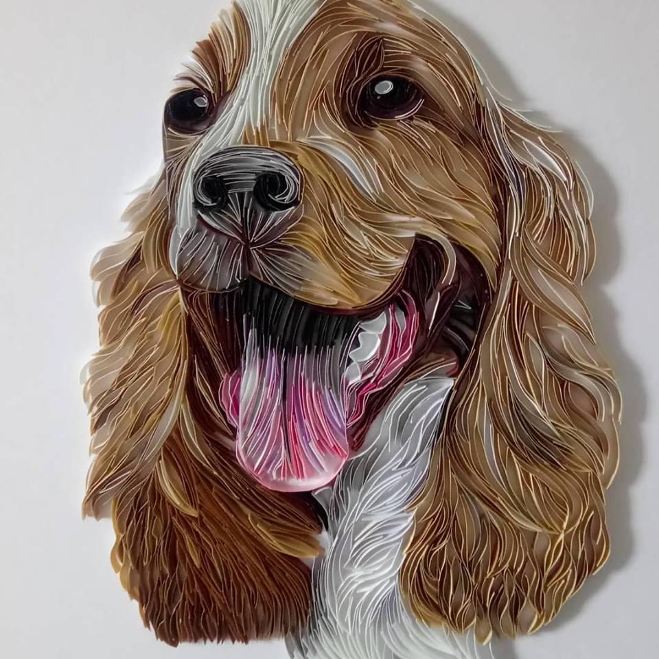 Wonderful Animal Paper Quilling Illustrations By Rebekah Jenkins 2
