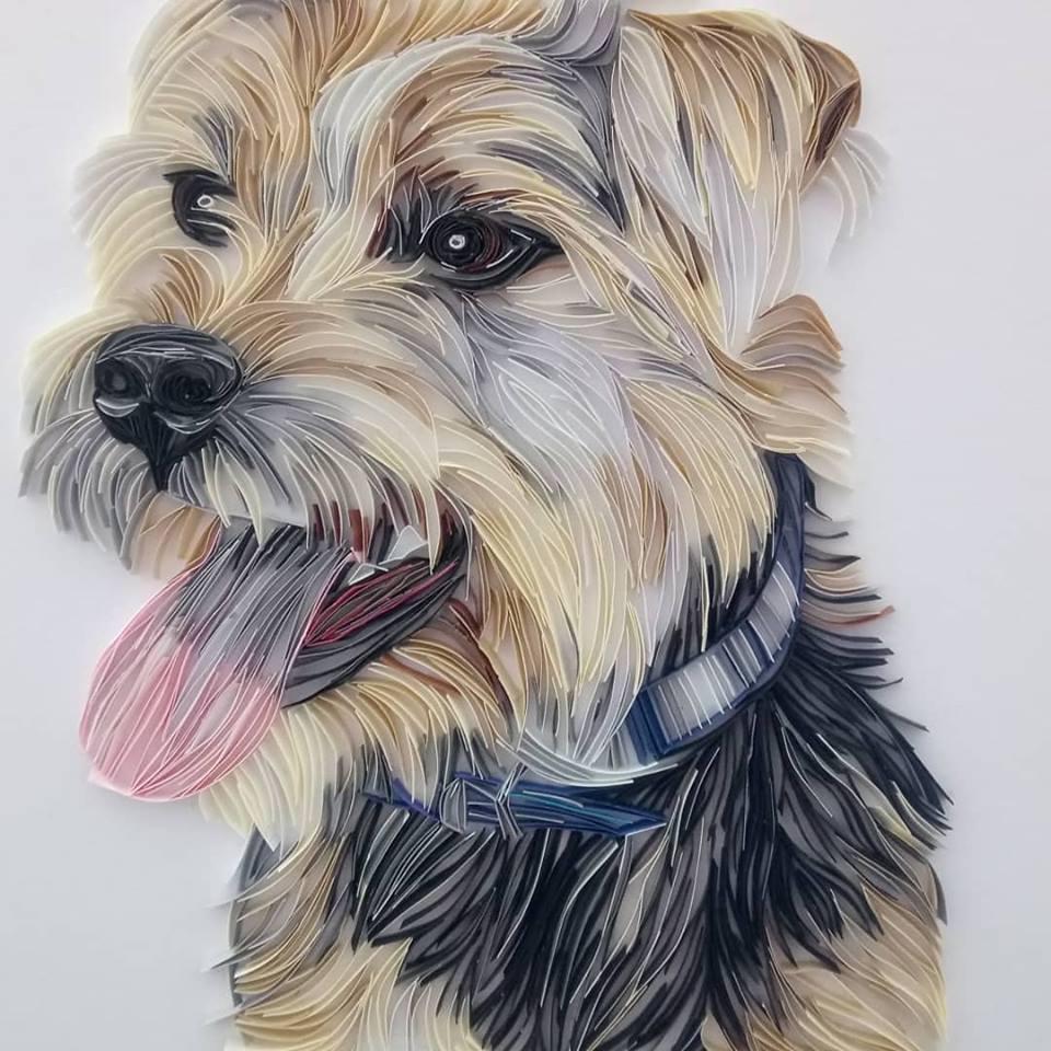 Wonderful Animal Paper Quilling Illustrations By Rebekah Jenkins 3