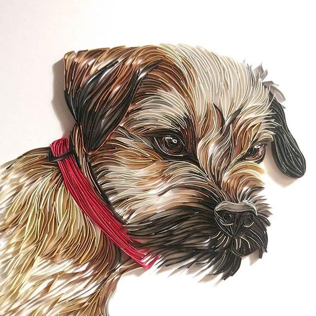 Wonderful Animal Paper Quilling Illustrations By Rebekah Jenkins 8