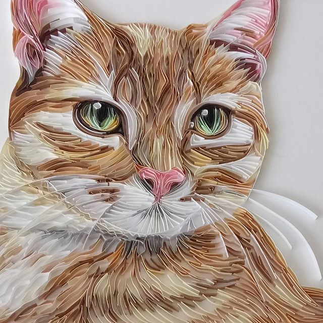 Wonderful Animal Paper Quilling Illustrations By Rebekah Jenkins 9