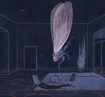 """""""A Silent Room"""": thoughtful illustration series by Jialun Deng"""