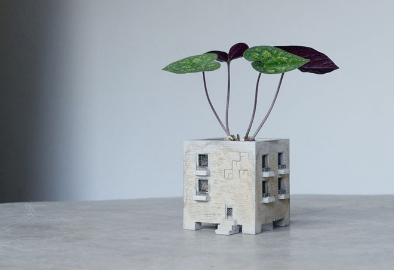 Adorable Planters Inspired By The Urban Environment By Nobuhiro Sato 1