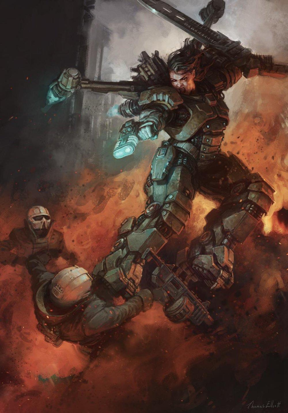 Amazing Cyberpunk Illustrations By Thomas Elliott 4