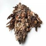 Amazing head sculptures made of found wood by Eyevan Tumbleweed
