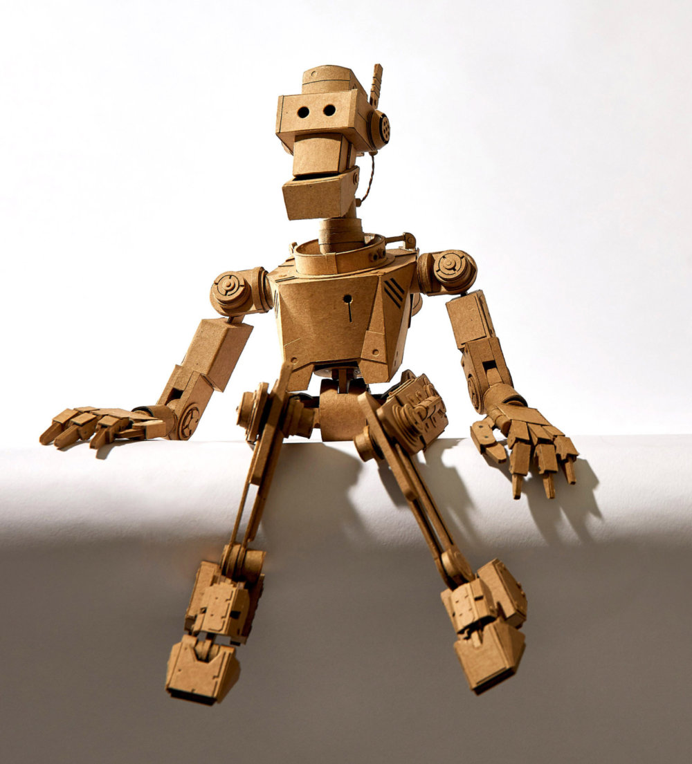 Amazingly Intricate Robot Cardboard Sculptures By Greg Olijnyk 10