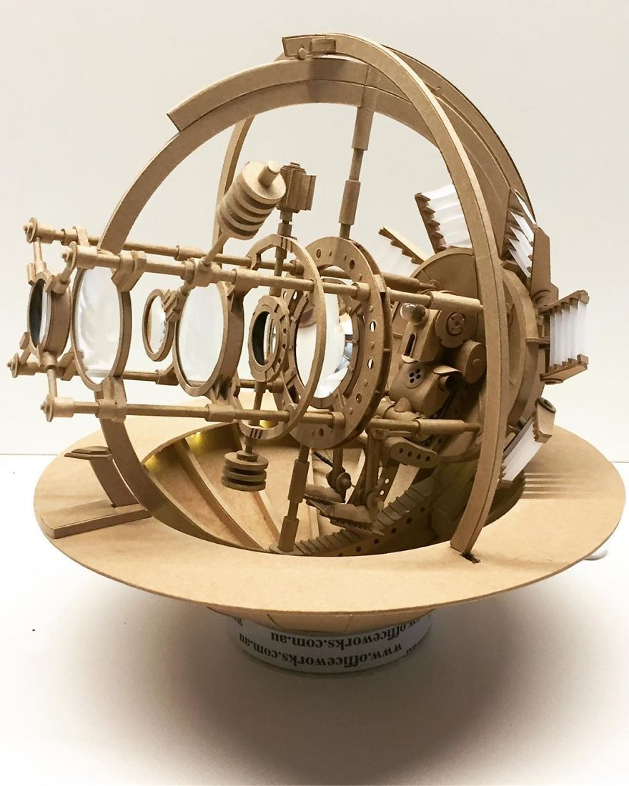 Amazingly Intricate Robot Cardboard Sculptures By Greg Olijnyk 2