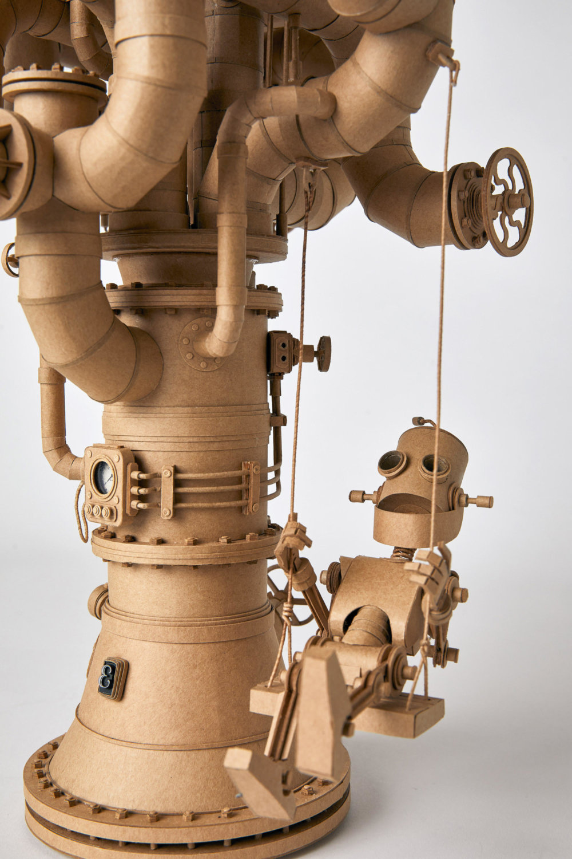 Amazingly Intricate Robot Cardboard Sculptures By Greg Olijnyk 4