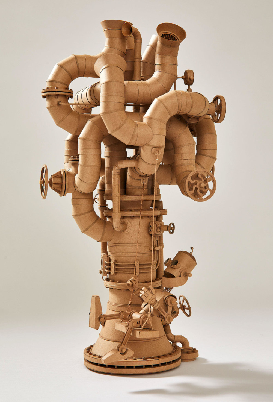 Amazingly Intricate Robot Cardboard Sculptures By Greg Olijnyk 5