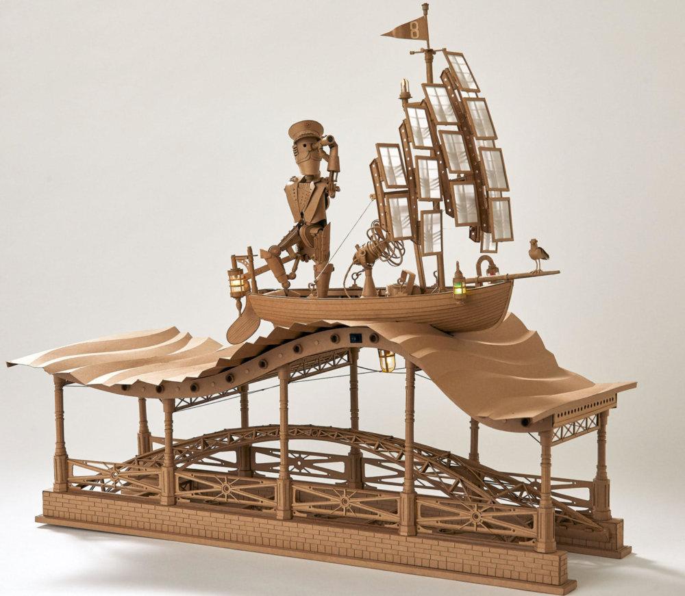 Amazingly Intricate Robot Cardboard Sculptures By Greg Olijnyk 6