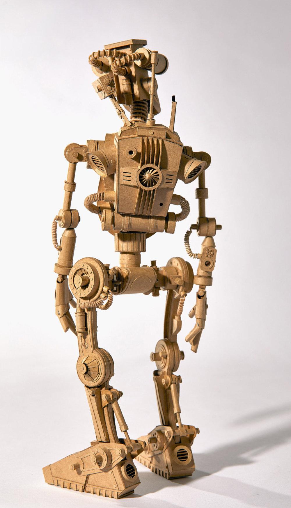 Amazingly Intricate Robot Cardboard Sculptures By Greg Olijnyk 8