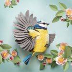 Animal sculptures meticulously made of thousands of paper pieces by Lisa Lloyd