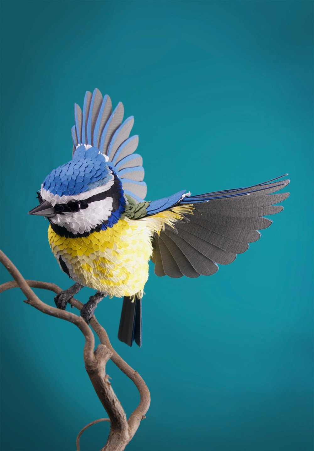 Animal Sculptures Meticulously Made Of Thousands Of Paper Pieces By Lisa Lloyd 2