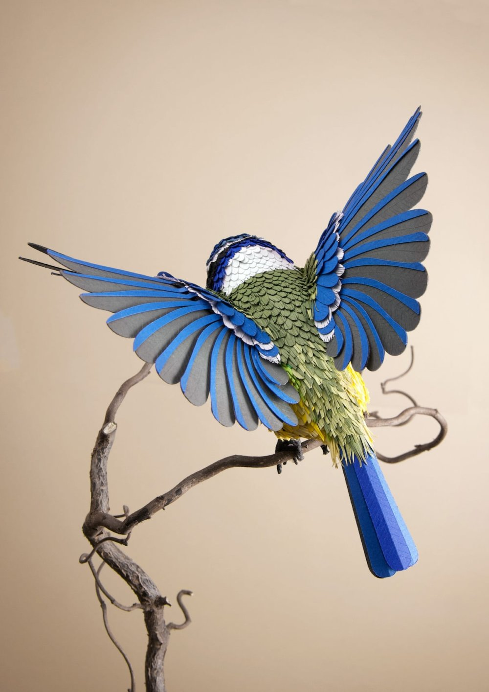 Animal Sculptures Meticulously Made Of Thousands Of Paper Pieces By Lisa Lloyd 3