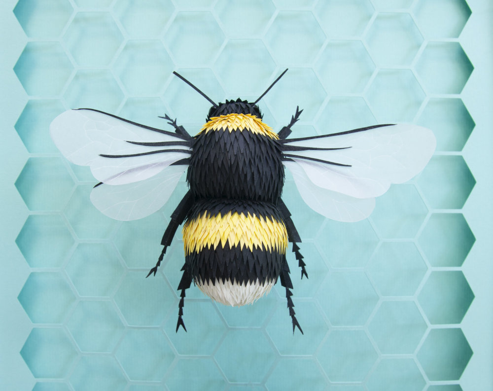 Animal Sculptures Meticulously Made Of Thousands Of Paper Pieces By Lisa Lloyd 8