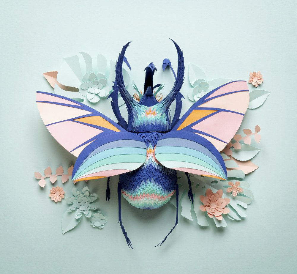 Animal Sculptures Meticulously Made Of Thousands Of Paper Pieces By Lisa Lloyd 9