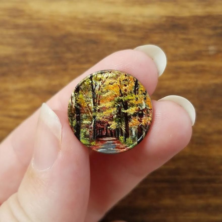 Artist Bryanna Marie Uses Coins As Canvasses For Tiny Paintings 1