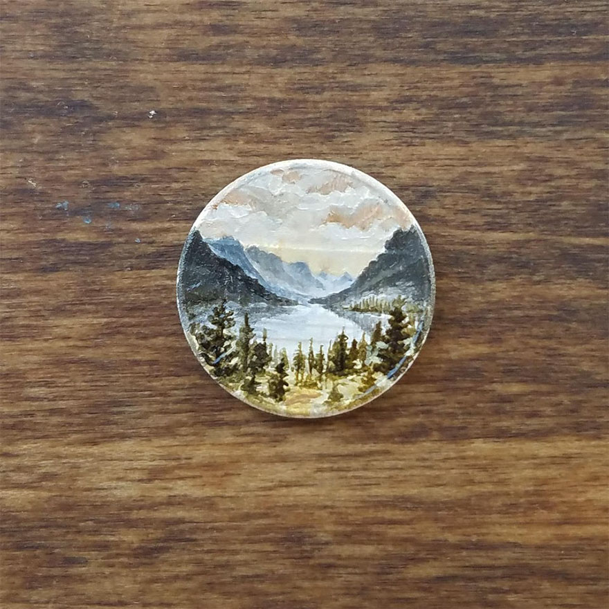 Artist Bryanna Marie Uses Coins As Canvasses For Tiny Paintings 3
