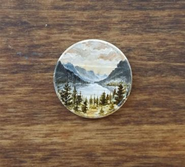 Artist Bryanna Marie uses coins as canvasses for tiny paintings