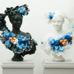Beautifully grotesque: disquieting wax sculptures flower decorated by Rebecca Stevenson