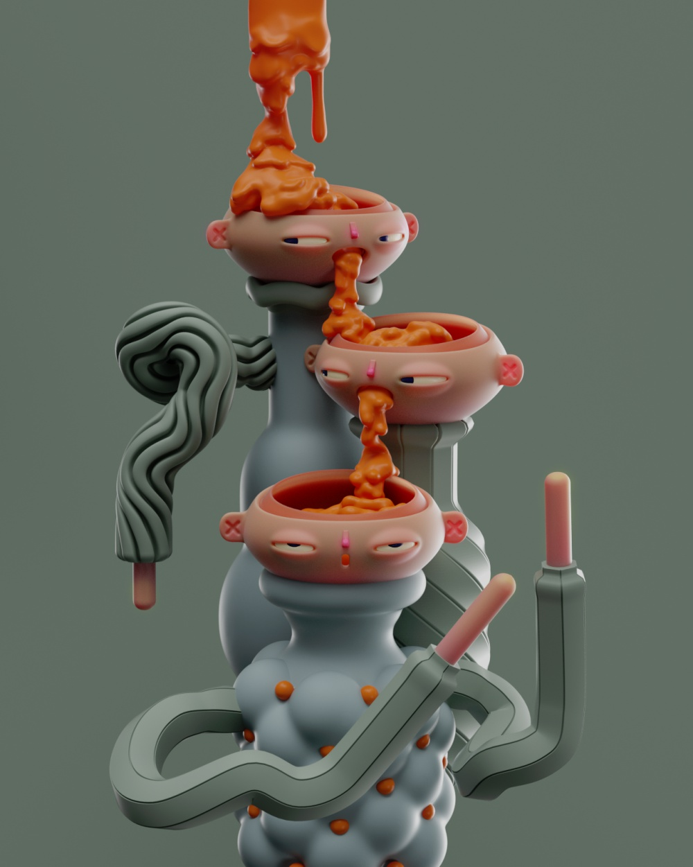 Bizarre 3d Illustrations By Lucas Camargo Aka Untitledarmy 8