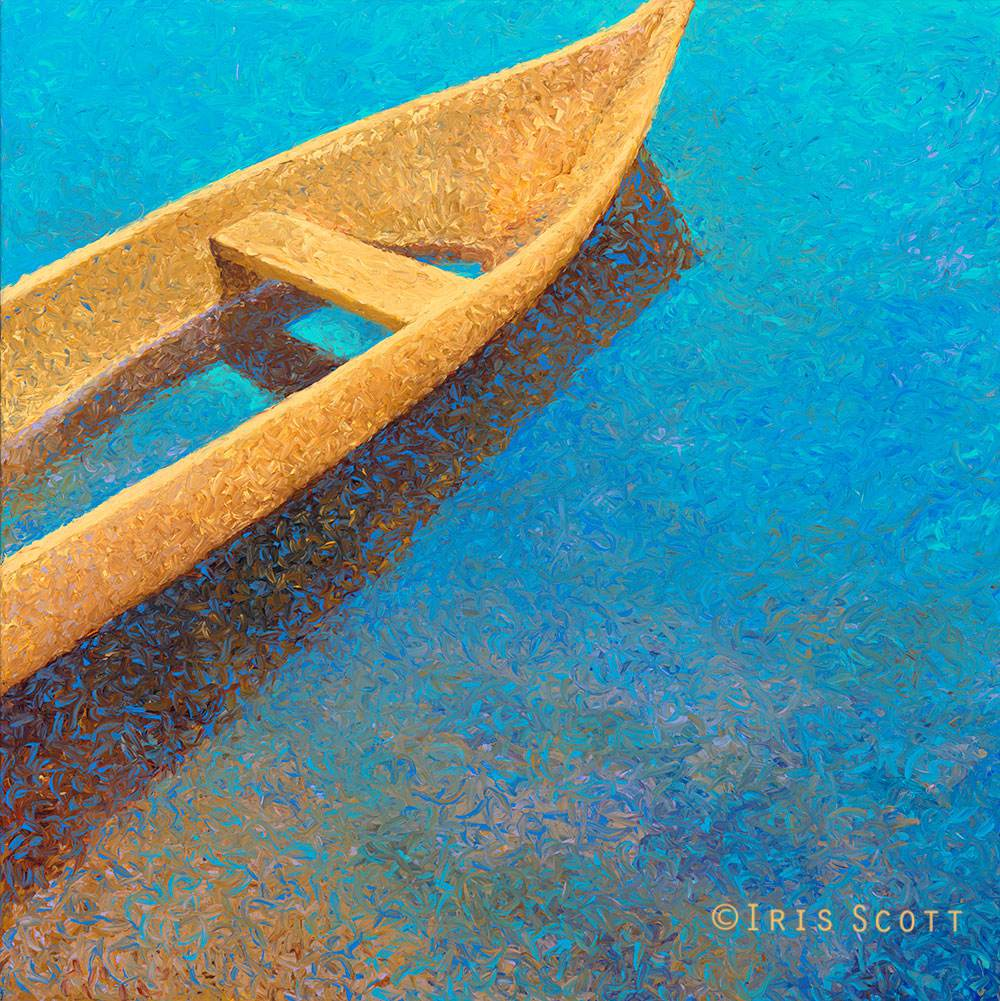 Colorful impressionistic oil paintings painted entirely with the fingers by Iris Scott 3