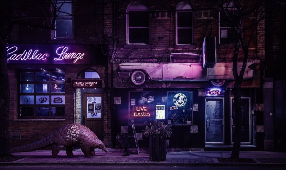 Cyberpunk Scenarios Of Wild Animals Roaming Around Nightly Cityscapes By Carlos Jimenez Varela 7
