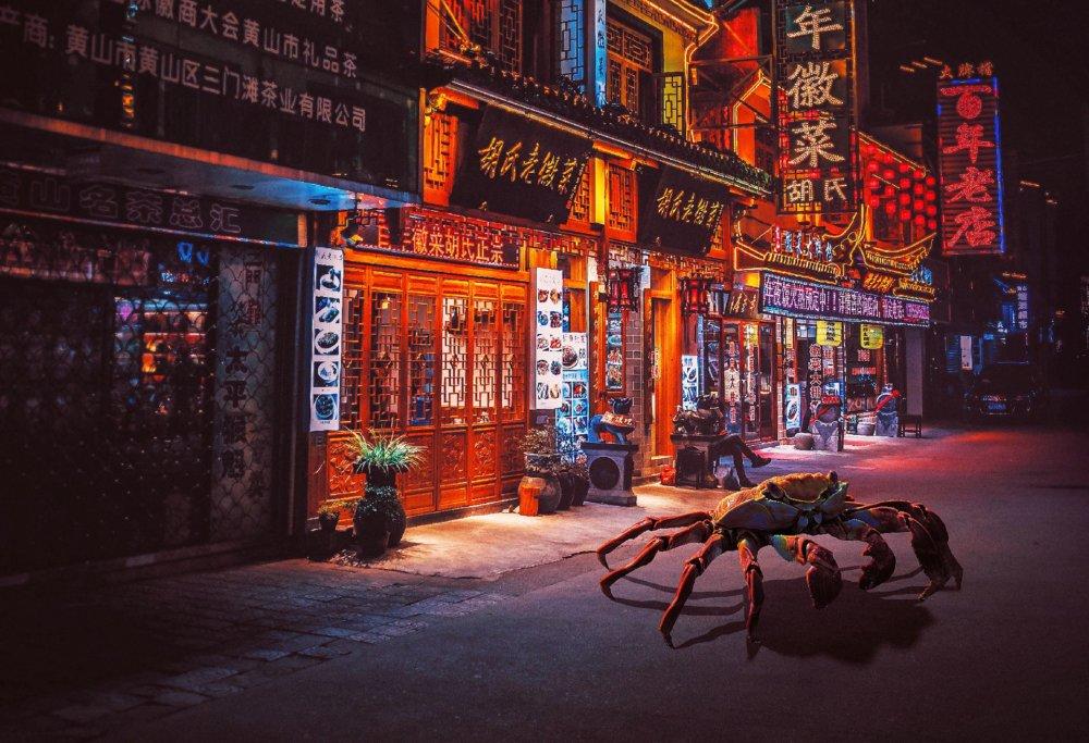 Cyberpunk Scenarios Of Wild Animals Roaming Around Nightly Cityscapes By Carlos Jimenez Varela 8