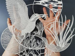 Delightful and intricate paper cuttings by Pippa Dyrlaga