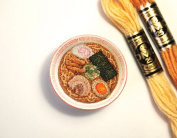 Embroidered foods in miniature by Ipnot