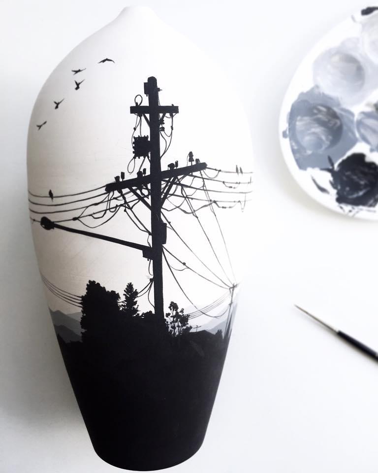Enchanting Ceramic Vases Illustrated With Elegant Figures By Niharika Hukku 13