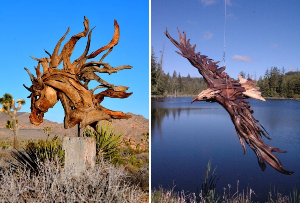 Extraordinary Sculptures And rustic Furniture Carved Out Of Driftwood By Jeffro Uitto 1