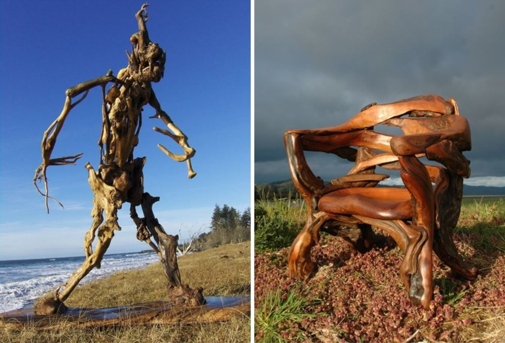 Extraordinary Sculptures And rustic Furniture Carved Out Of Driftwood By Jeffro Uitto 2
