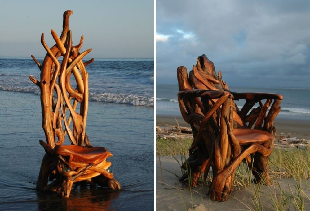 Extraordinary Sculptures And rustic Furniture Carved Out Of Driftwood By Jeffro Uitto 4