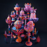 """""""Forest Folks"""": fascinating colorful papercraft sculptures by Zim & Zou"""