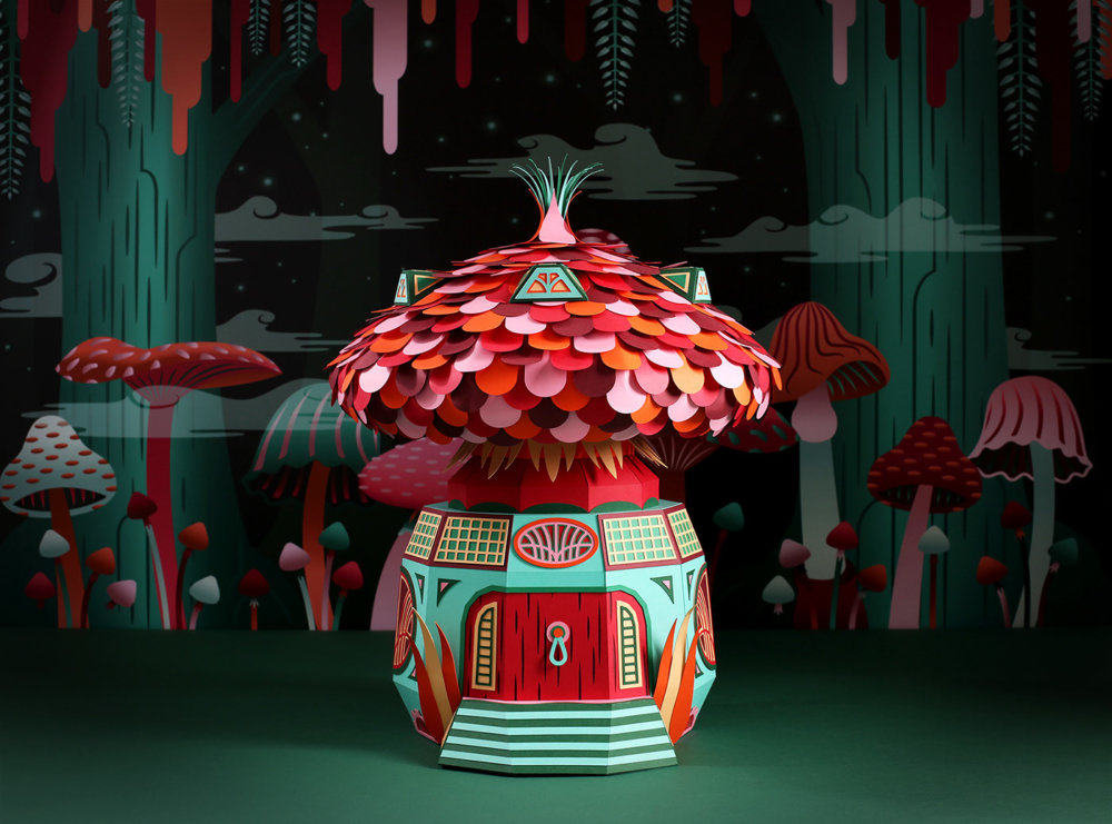 Forest Folks Fascinating Colorful Papercraft Sculptures By Zim And Zou 3