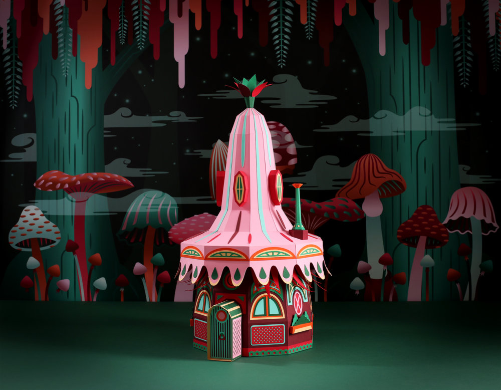 Forest Folks Fascinating Colorful Papercraft Sculptures By Zim And Zou 4