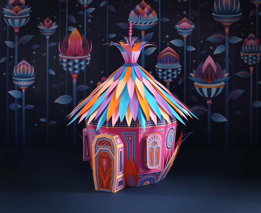 Forest Folks Fascinating Colorful Papercraft Sculptures By Zim And Zou 5