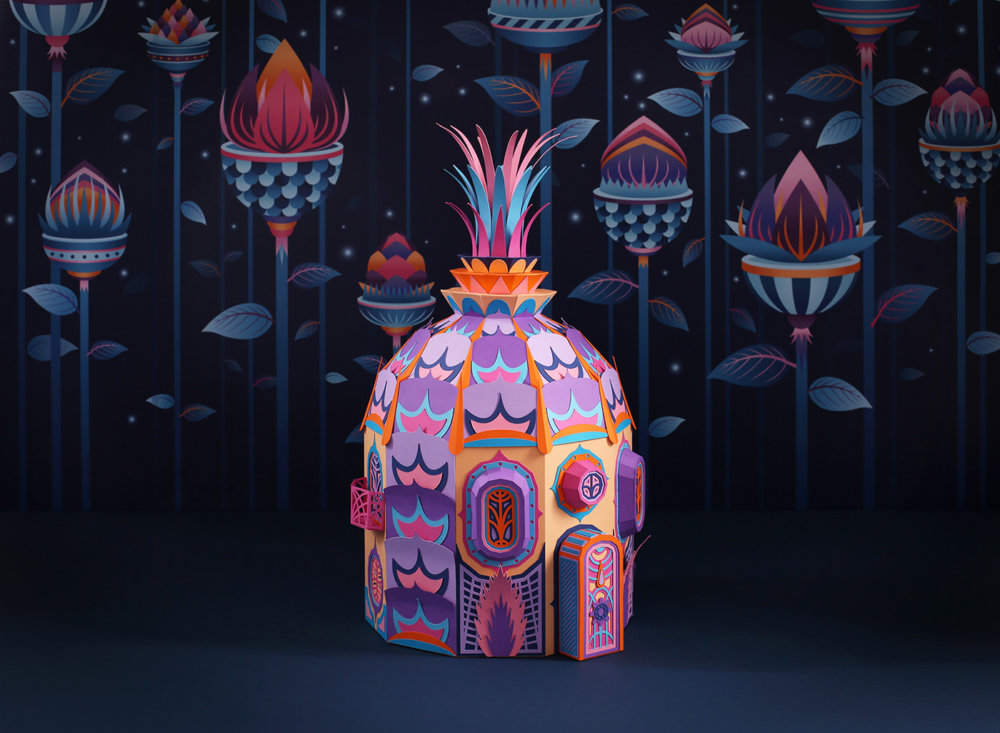 Forest Folks Fascinating Colorful Papercraft Sculptures By Zim And Zou 6