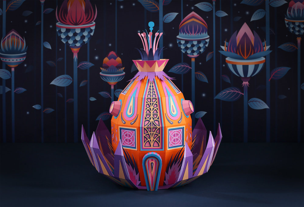 Forest Folks Fascinating Colorful Papercraft Sculptures By Zim And Zou 7