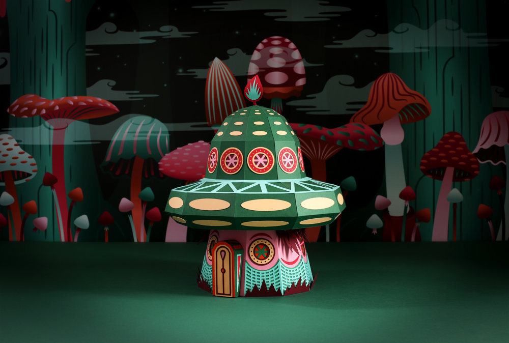 Forest Folks Fascinating Colorful Papercraft Sculptures By Zim And Zou 8