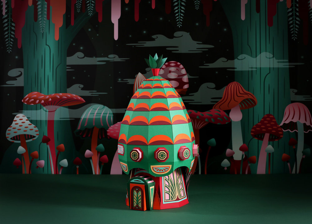 Forest Folks Fascinating Colorful Papercraft Sculptures By Zim And Zou 9