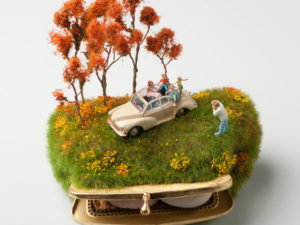 Gorgeous dioramas on top and inside common objects by Kendal Murray