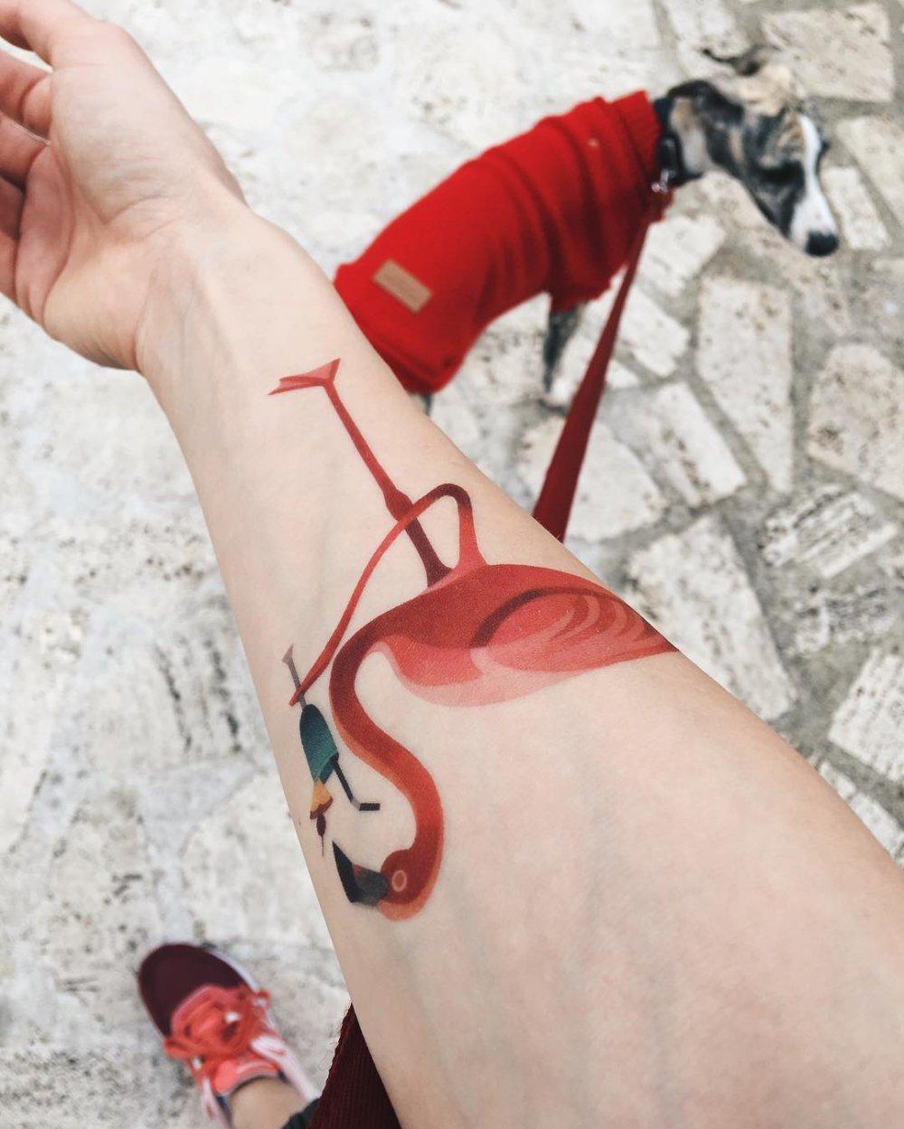 Gorgeous Illustrative Tattoos By Sasha Unisex 10